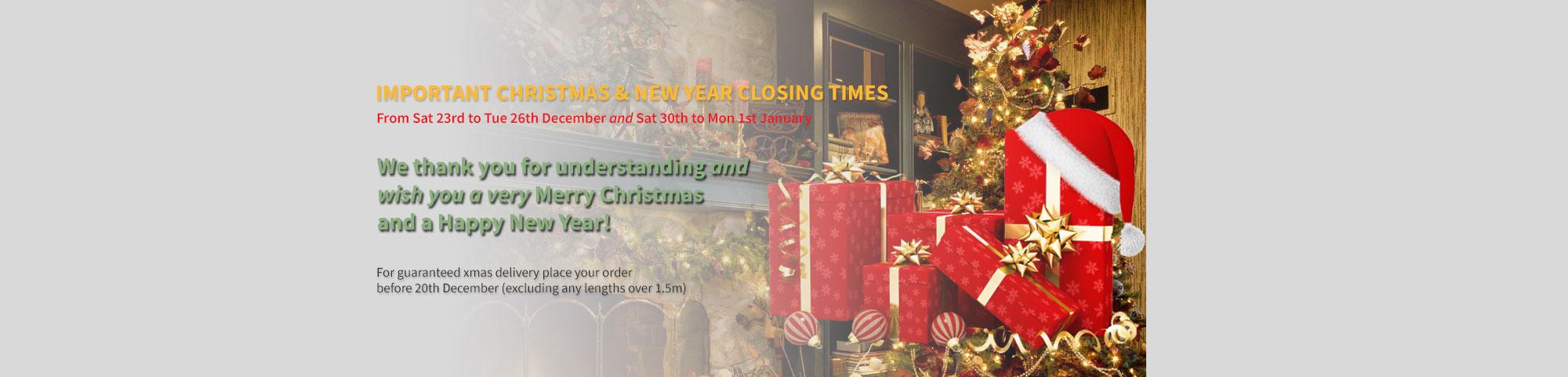 Xmas Closed Days