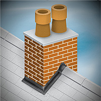 Chimney stack flashing