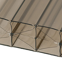 25mm Bronze Multiwall Polycarbonate Sheets