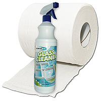 Glass Cleaner Spray + Tissue