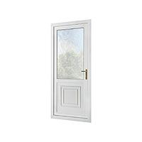 PVC Door with Hanover half panel