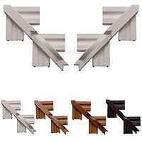 Roomline PVCu Architrave Corner Kit - White Satin