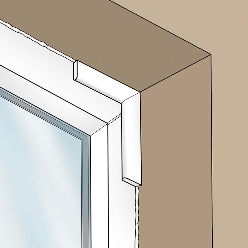 Plastic uPVC Cloaking Fillet Window Door Bead Trim