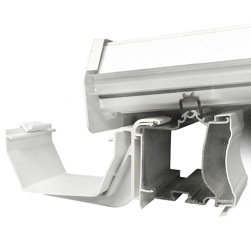 Profile shows optional clipon gutter bracket