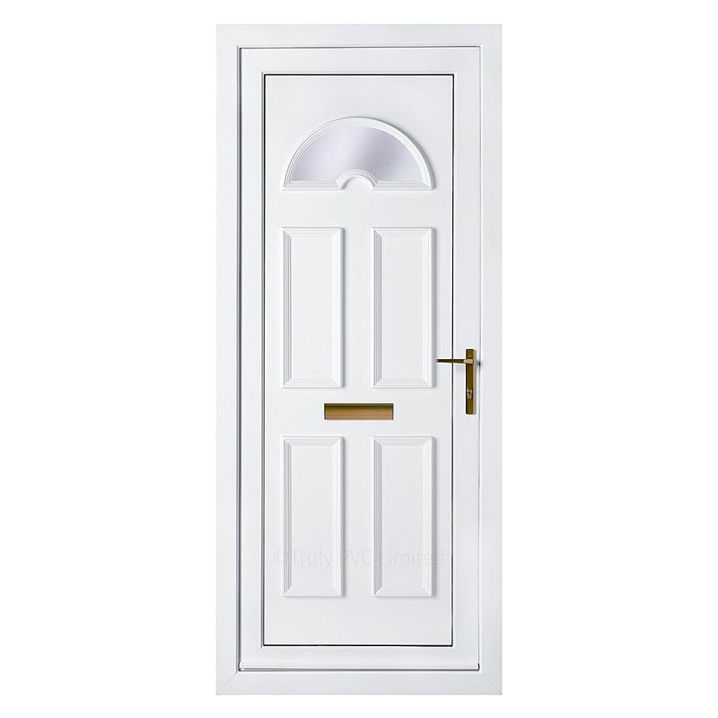 Pvc Panel Doors : Sandringham arched upvc front door panel moulded