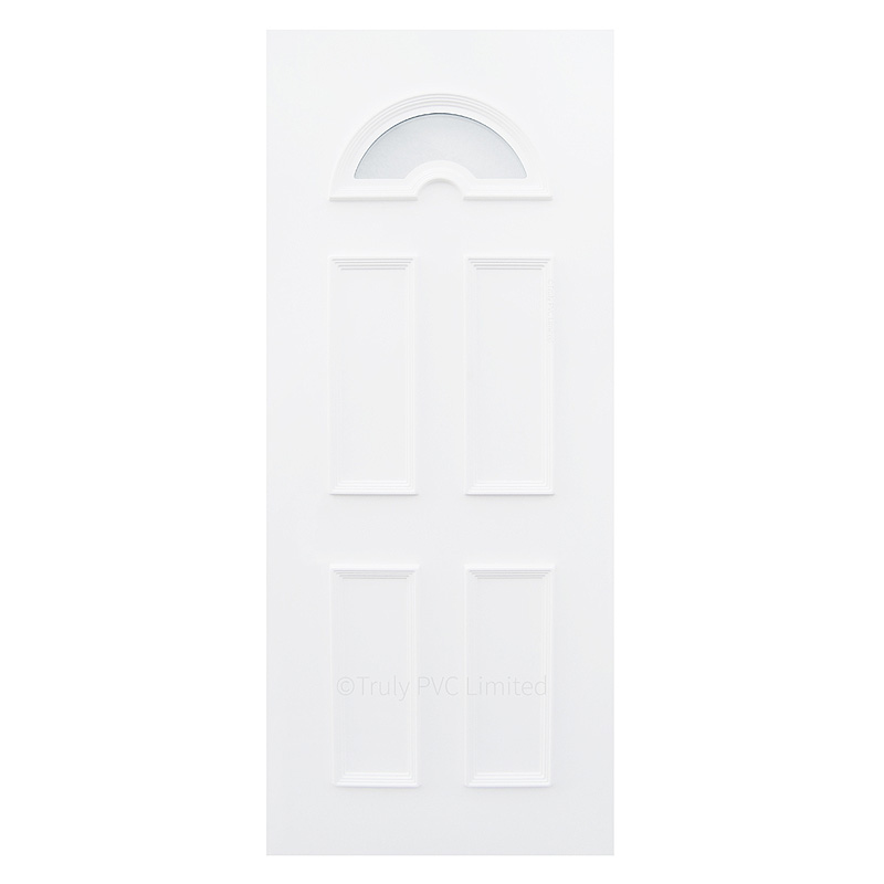 Attractive panel with glazed top arch