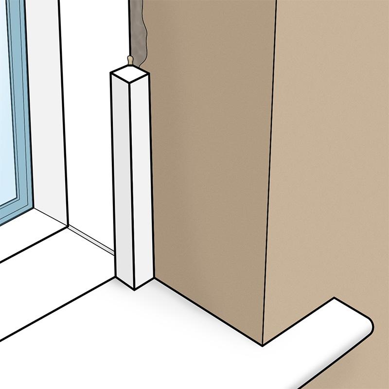 Plastic uPVC 20mm Square Section Bead Window Finishing Trim