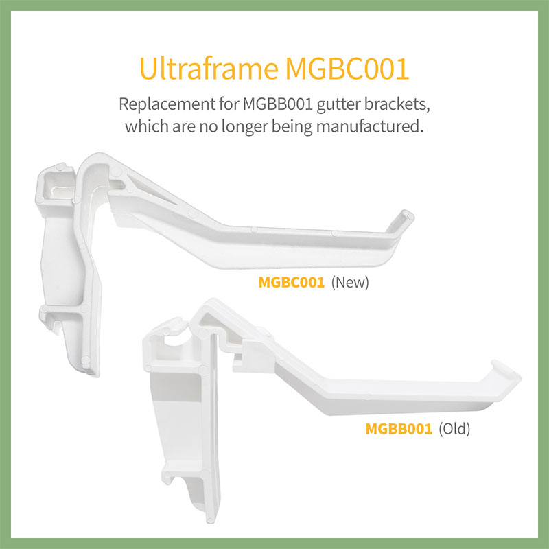 MGBC001 gutter bracket compared to old MGBB001