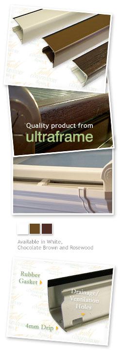 25mm Ultraframe Polycarbonate End Closure 2m Truly Pvc