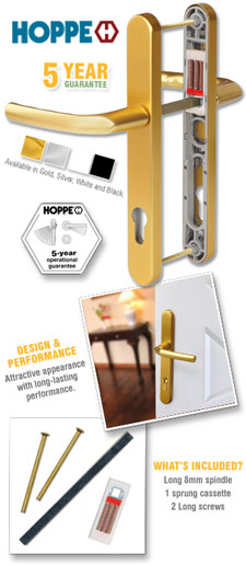 Hoppe Birmingham Lever Handle Set (Long)