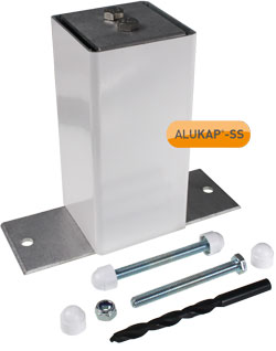ALUKAP-SS Complete Eaves Support Post And Bracket Kit