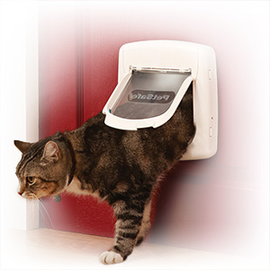 Easy-access cat flap