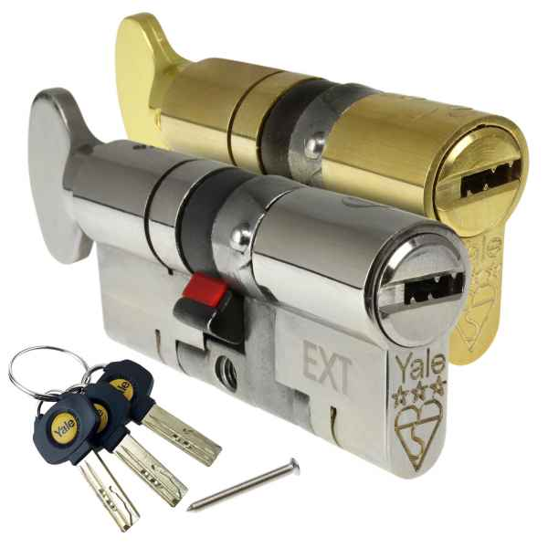 Yale Platinum 3 Star High Security Euro Cylinder Lock