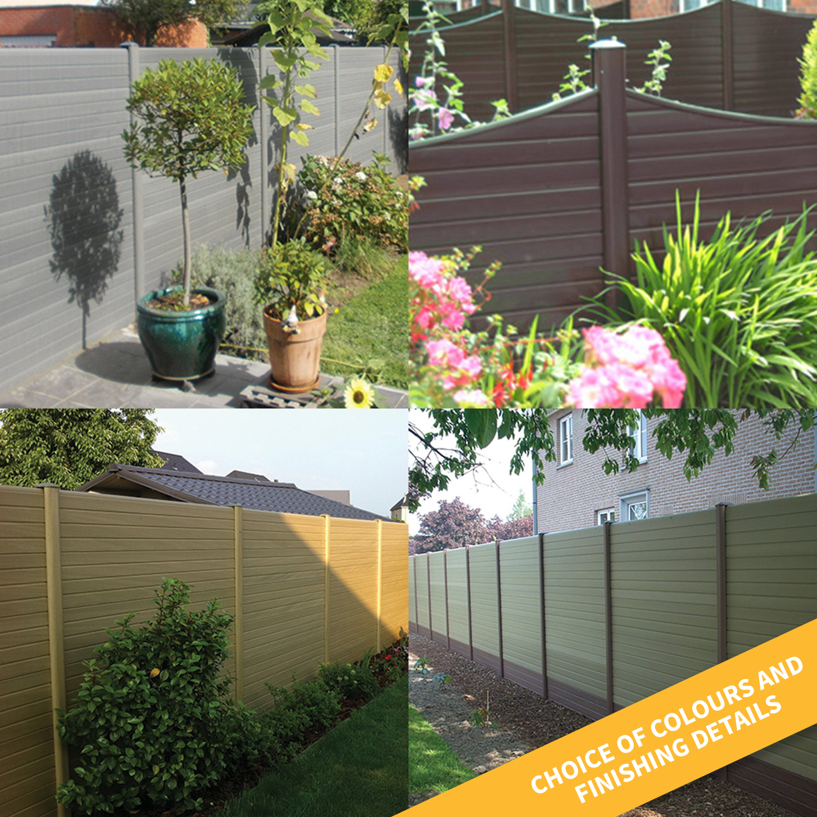 Utility Strip Post Corner Closure For Eco Fence Composite Plastic Fencing Truly Pvc