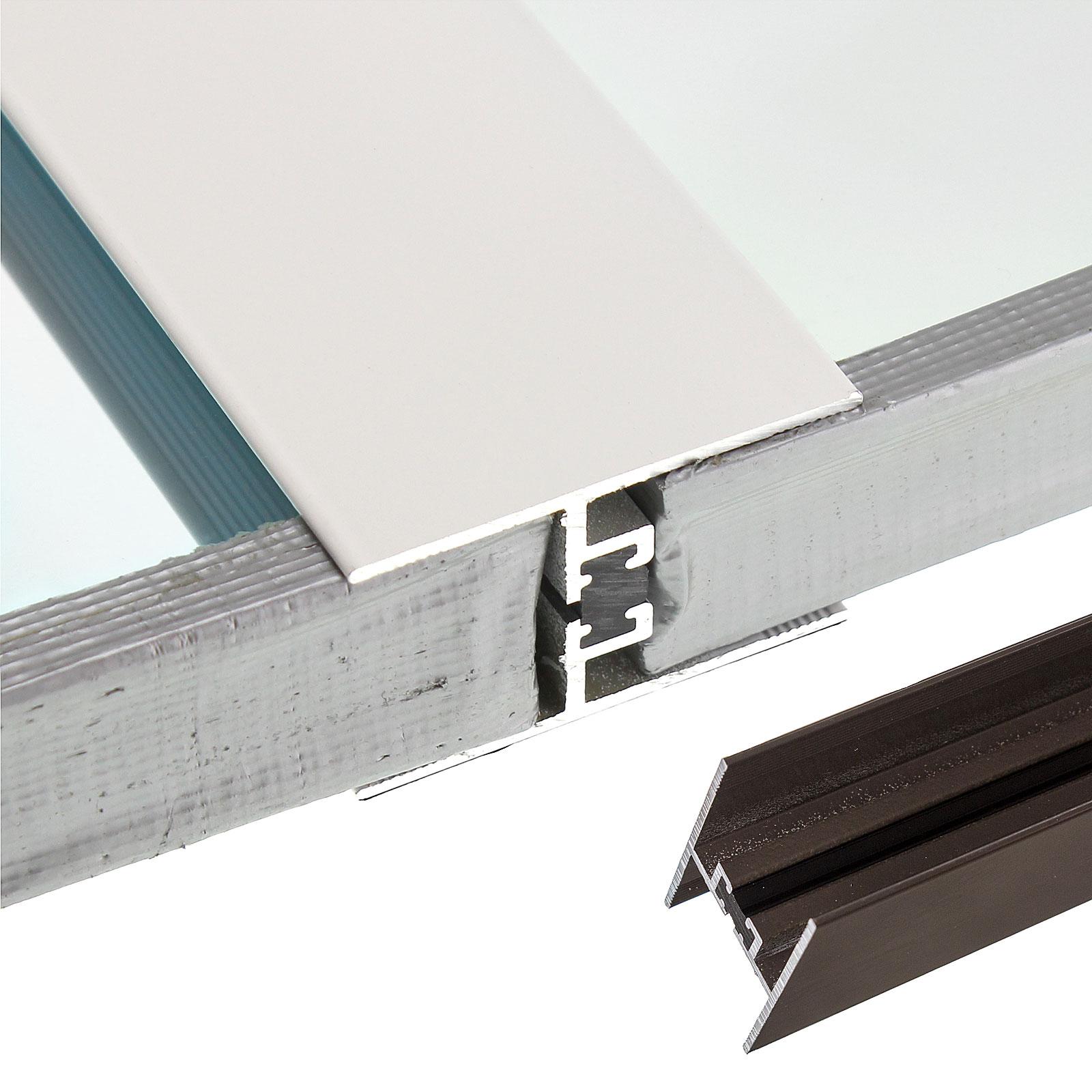 24 25mm Aluminium Muntin Bar 2 1m Truly Pvc Supplies