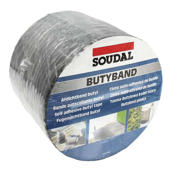 100mm (4in) Soudal Butyband Lead Flashing Tape Butyl Rubber Sealing Roll