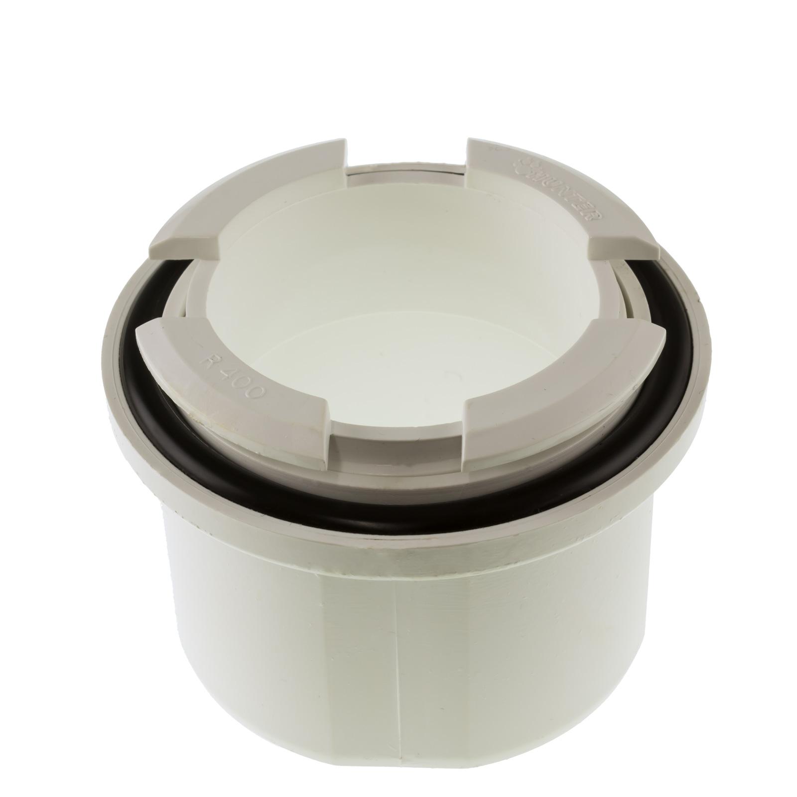 Hunter Uni Fit R400 Gutter Outlet Universal Spigot White