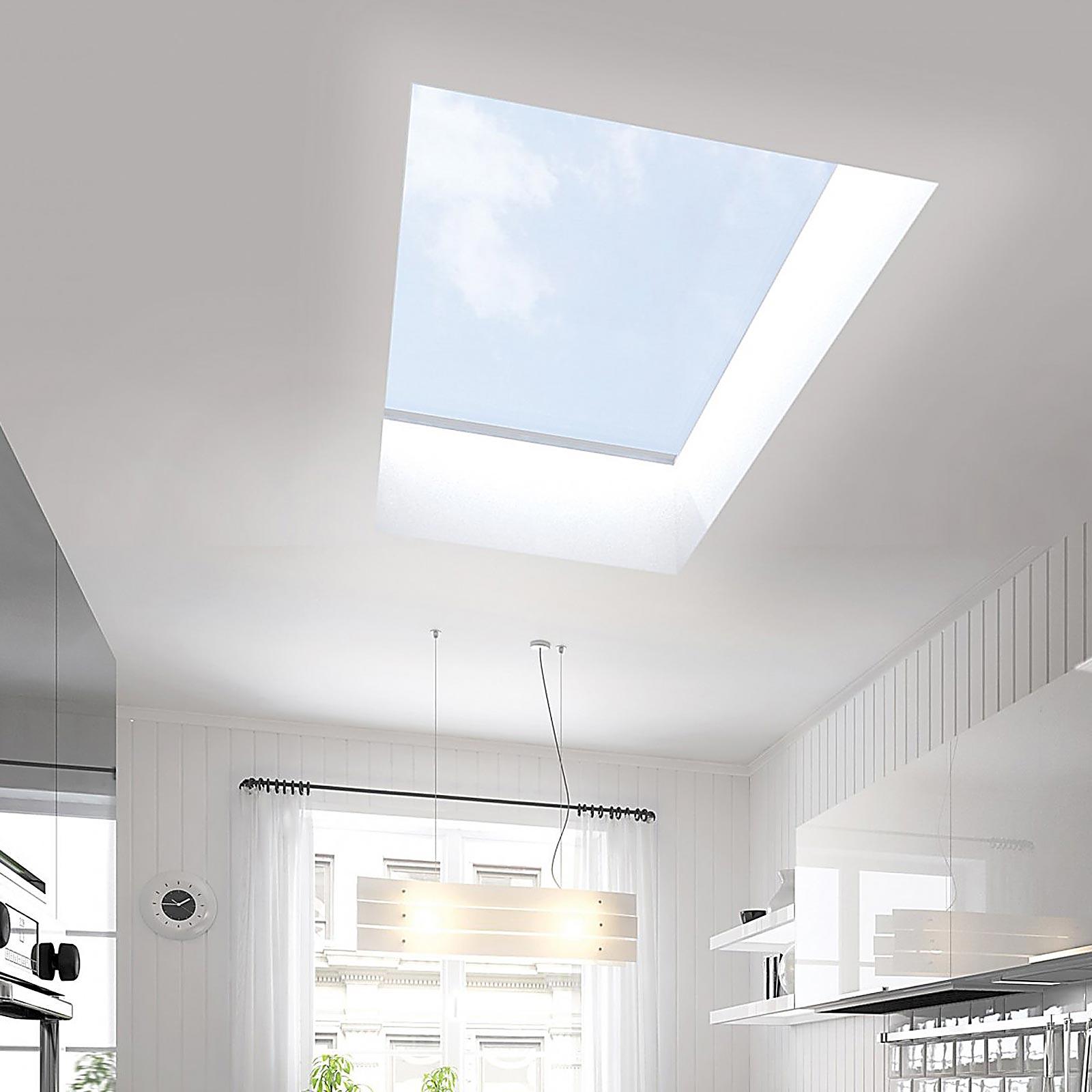 25 Captivating Ideas For Kitchens With Skylights: Ultraframe Ultrasky Flat Skylight