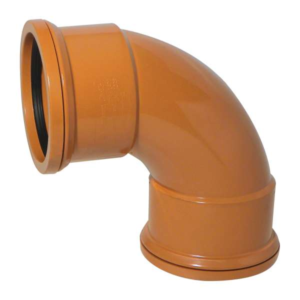90° Bend (Double Socket) for 110mm Plastic PVC-u Underground Drainage System Fittings