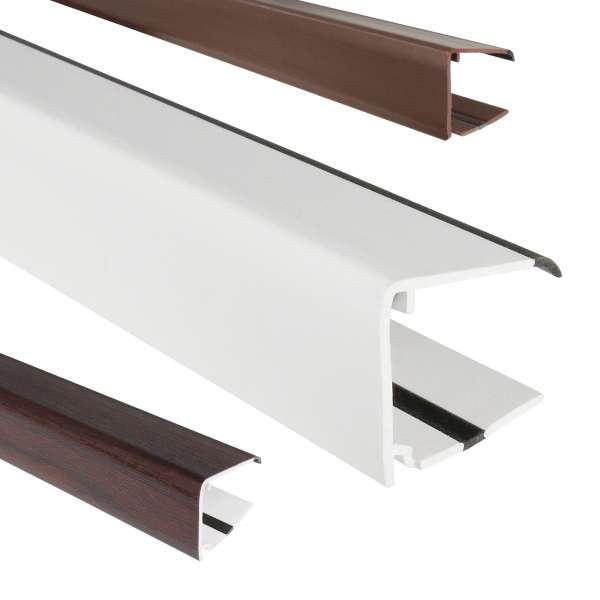 Ultraframe 25mm Polycarbonate Sheet End Closure u-Profile