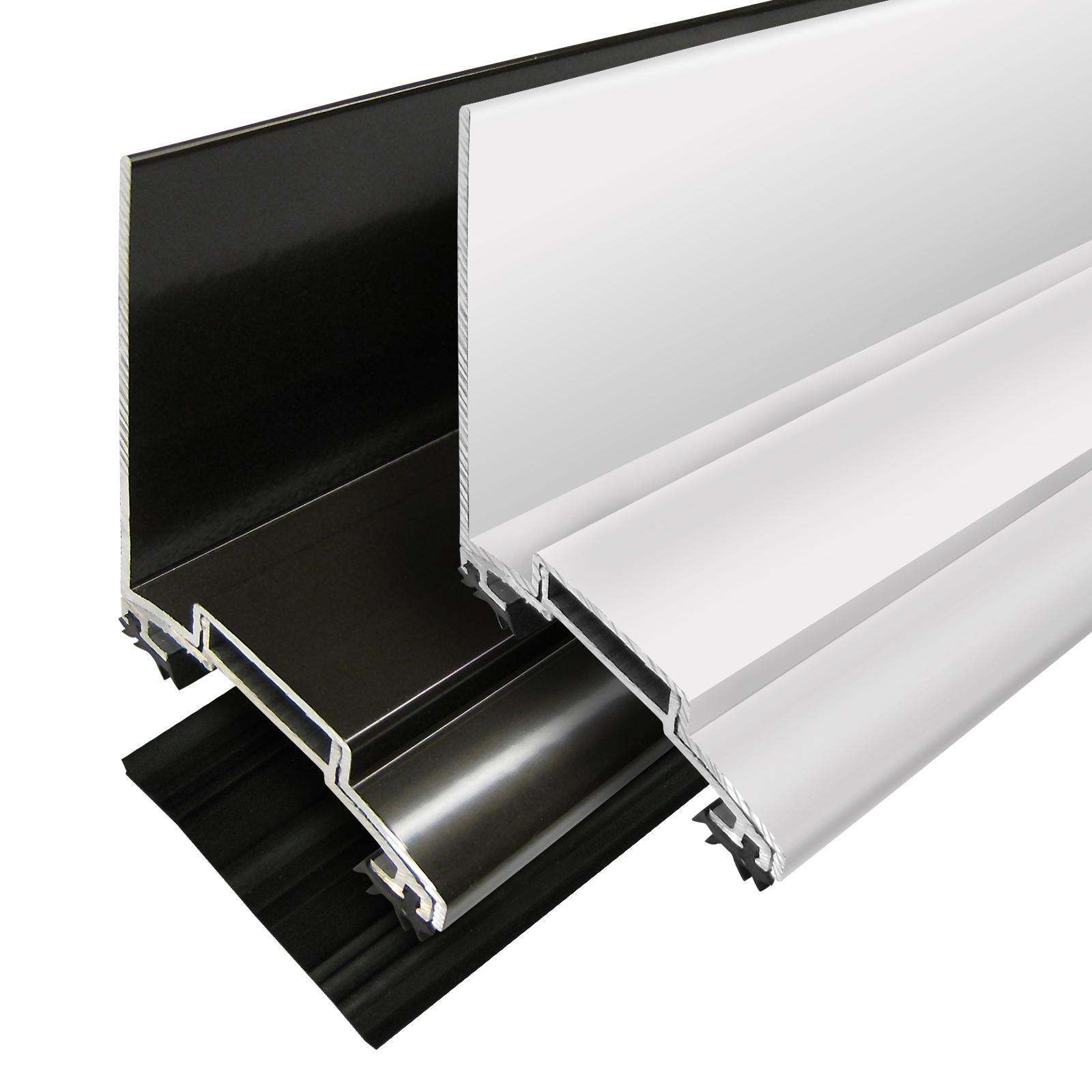 60mm Alukap Xr Aluminium Screw Down Wall Bar For