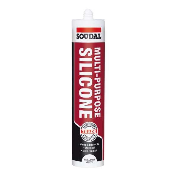 Brilliant White Soudal Trade Multi-Purpose Silicone Joint Sealant