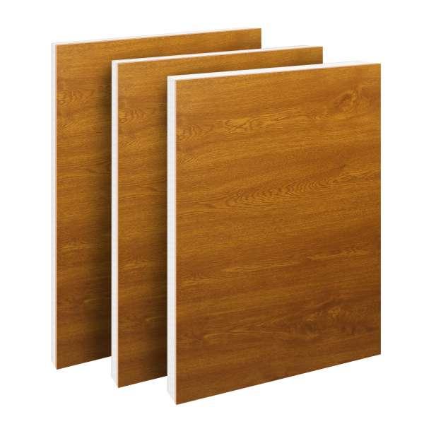 Golden Oak uPVC Flat Door Panel (700mm x 900mm)