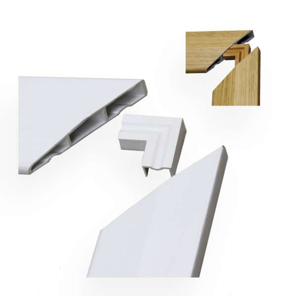 Roomline Chamfered PVCu Architrave Sample Pack