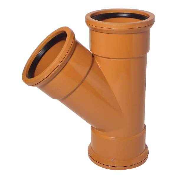 45° Junction (Triple Socket) for 110mm Plastic PVC-u Underground Drainage System Fittings