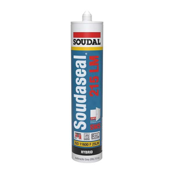 Anthracite Grey RAL7019 Soudaseal 215 LM SWS Sealant Low Modulus MS Polymer