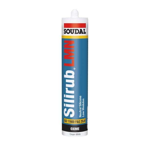 Cream White Soudal Silirub LMN Silicone Glazing and Construction Sealant