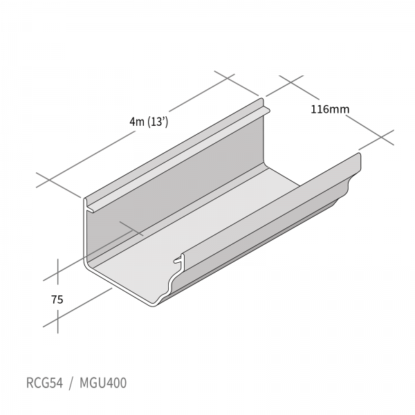 Marley Classic Ogee Profile PVCu Gutter for Ultraframe Conservatories and Homes