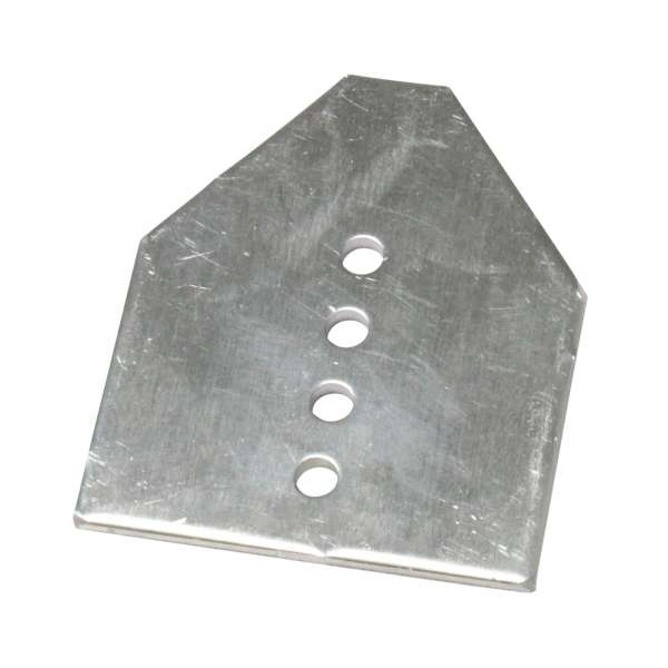 End-Fix Glazing Bar Aluminium End Plate for Conservatory Roof Slipped Panels