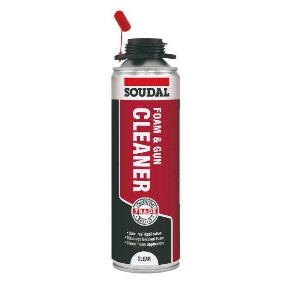 Soudal PU Expanding Foam & Gun Cleaner (500ml)