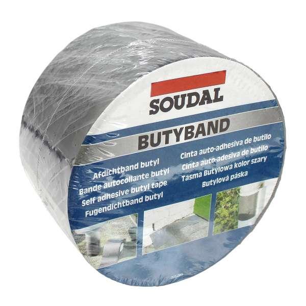 75mm (3in) Soudal Butyband Lead Flashing Tape Butyl Rubber Sealing Roll