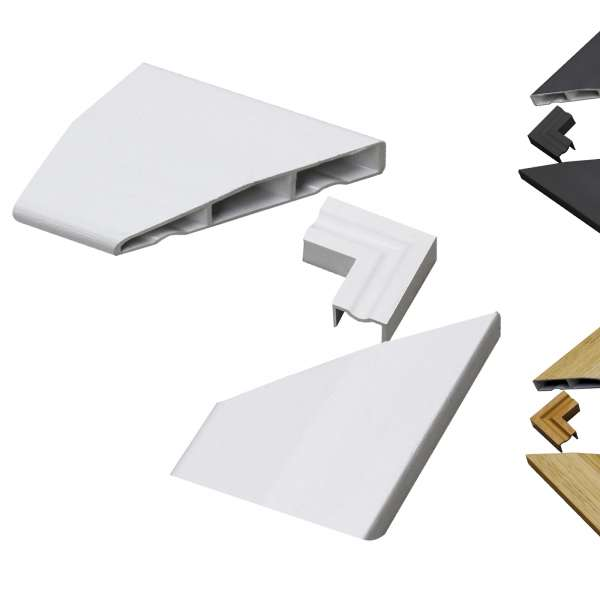 Small Sample Pack of Roomline Chamfered Door ArchitravePlastic