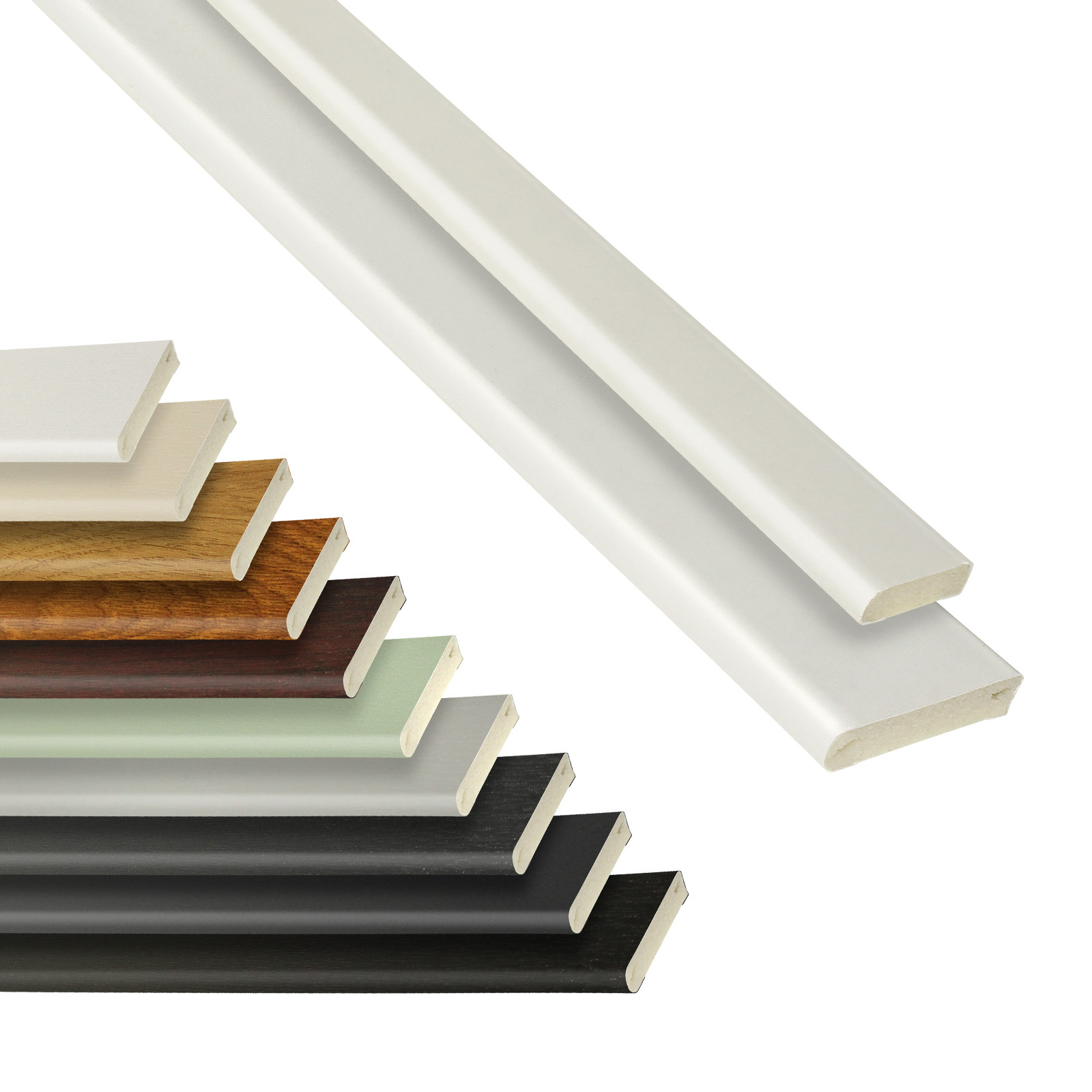Architrave PVC Fillet finish Window UPVC 20mm Anthrasite Grey 30mm.