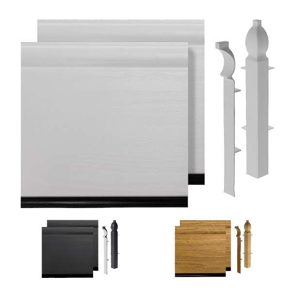 "150mm 6"" Roomline Torus Ogee Plastic Skirting Board Sample Pack"