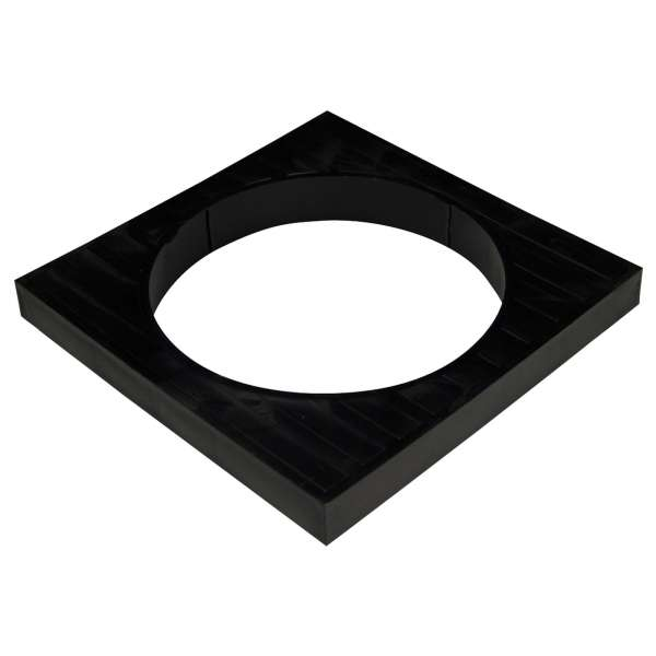 Round to Square Grid Adaptor for 110mm Plastic PVC-u Underground Drainage System Fittings