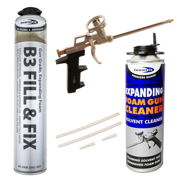 Pu Polyurethane Expanding Foam Kit 1 Chrome Gun 1
