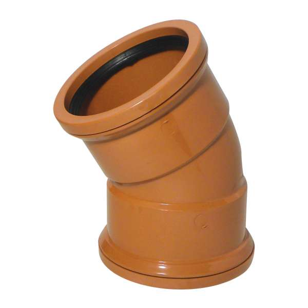 30° Bend (Double Socket) for 110mm Plastic PVC-u Underground Drainage System Fittings