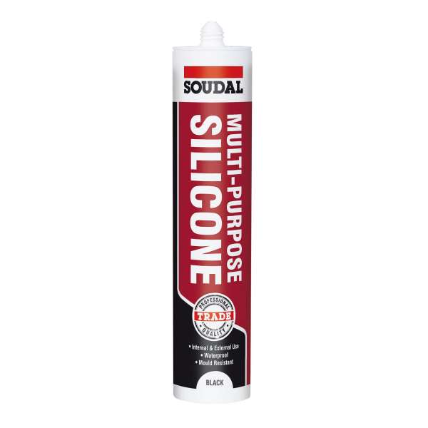 Black Soudal Trade Multi-Purpose Silicone Joint Sealant