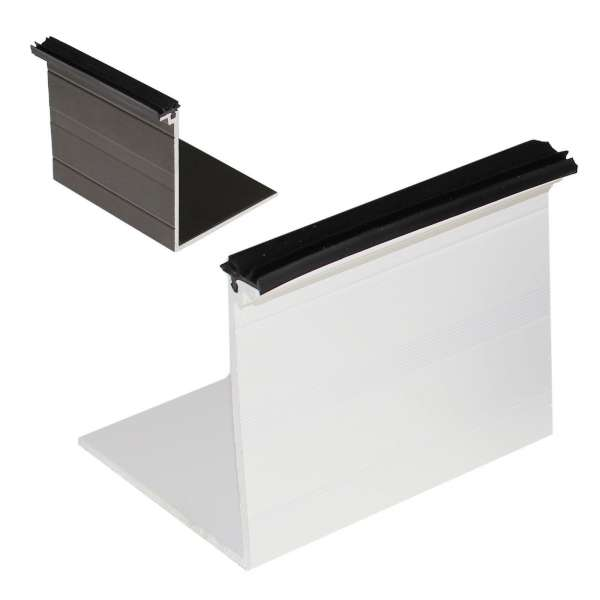 ALUKAP-SS Low Profile Wall/Eaves L-Cap Bar