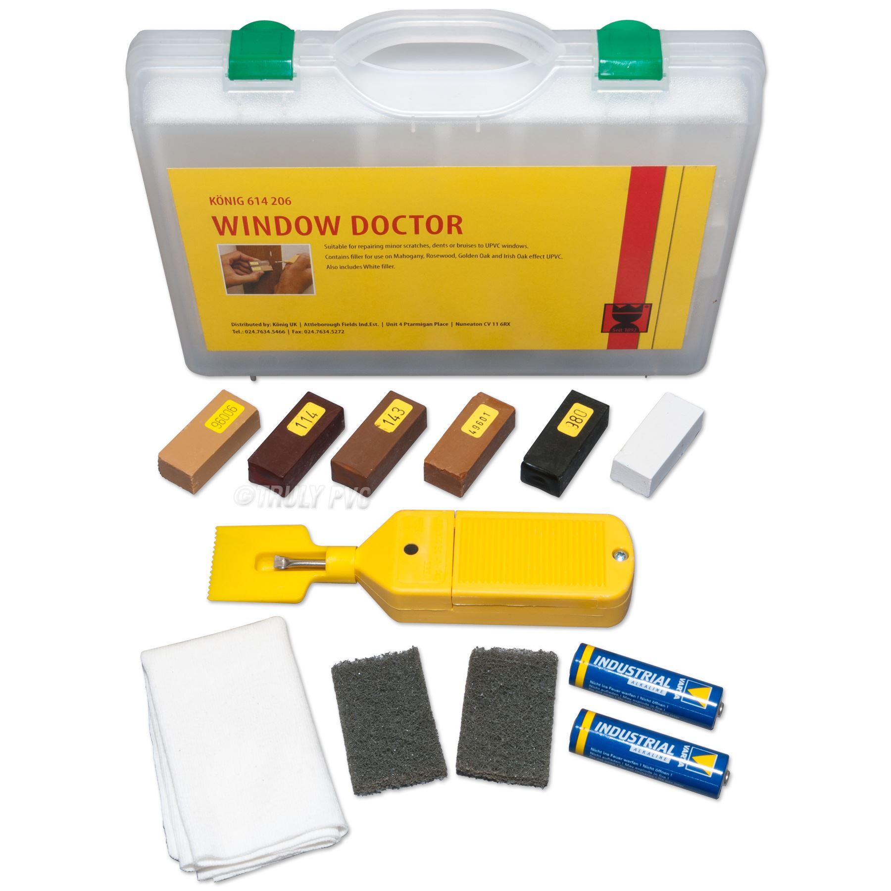 Konig Window Doctor Scratch Repair Kit Truly Pvc