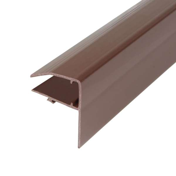 Brown 10mm Sunwood Snap-Tight Edge Trim Lean-to Gable End F-Section Trim