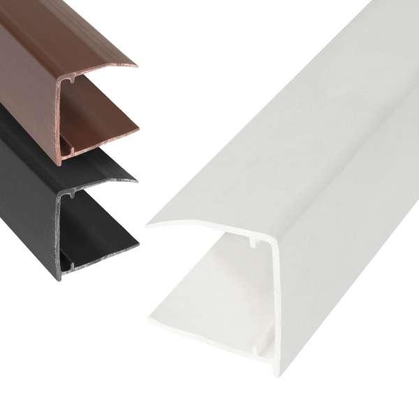 25mm Polycarbonate Sheet End Closure uPVC Plastic U Profile