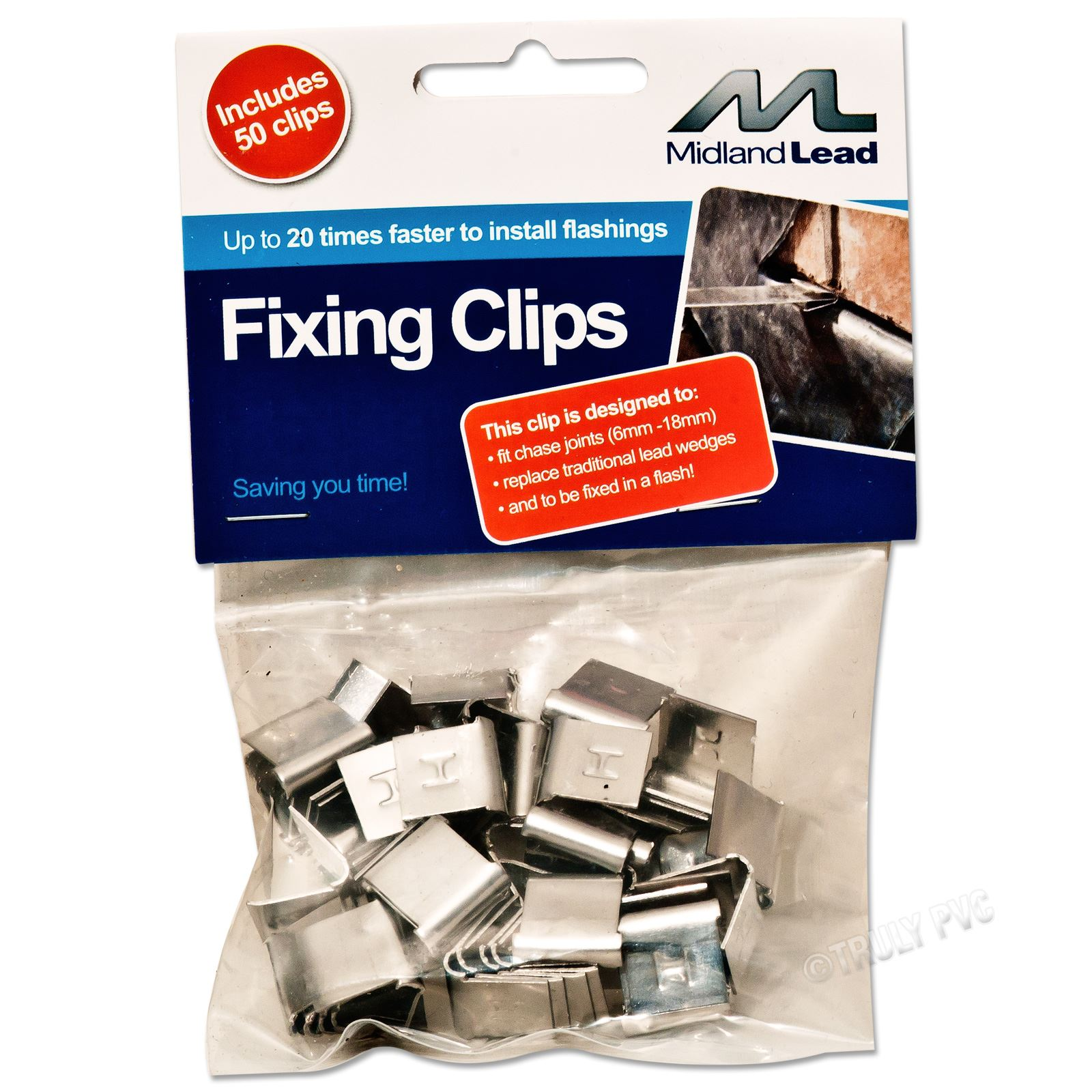 Midland Lead Hall Clips 50 Pack Truly Pvc Supplies