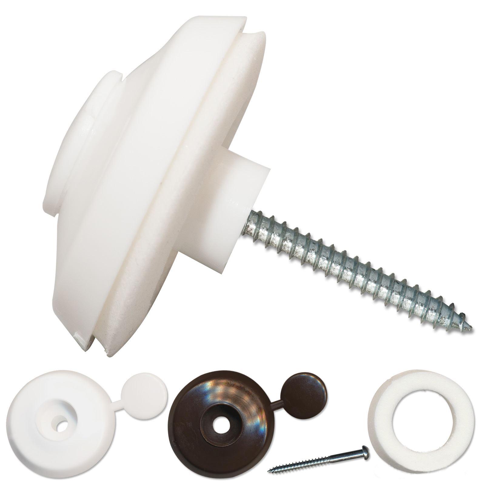 10 X 10mm Polycarbonate Sheet Fixing Buttons Screws
