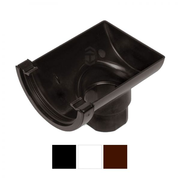 Marshall Tufflex RWO2WH Half Round Stop End Gutter Outlet