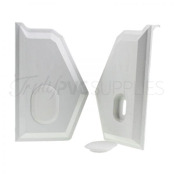 Synseal XWEC1 Wall Bar End Cap (Pair)
